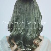 Seethrough Aqua Mint ดึงดูดทุกสายตา ด้วยสีผมโทนเขียวมิ้นท์ที่ดูสดชื่น