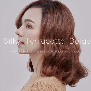 Silky Terracotta Beige สีน้ำตาลเบจโทนส้ม เปลี่ยนสีผมที่ดูแห้งกระด้าง