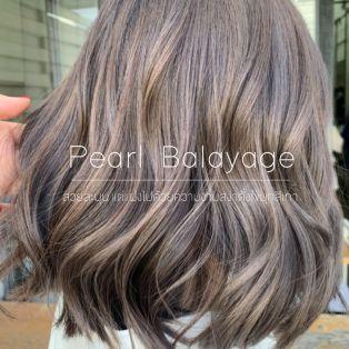Pearl Balayage สีผมสวยละมุน แต่แฝงไปด้วยความงามด้วยไข่มุกสีเทา