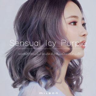 Sensual Icy Purple เผยเสน่ห์ที่ซ่อนเร้นให้เด่นชัด ด้วยสีผมเปี่ยมเสน่ห์นุ่มลึก