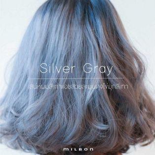 Silver Gray สีผมเทาแอชประกายเงินสุดนุมนวลดุจไข่มุกสีเทา