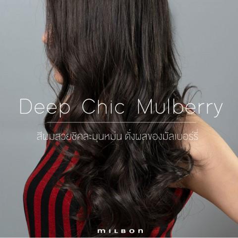 Deep Chic Mulberry สีผมสวยชิคละมุนหม่น ดั่งผลของมัลเบอร์รี่